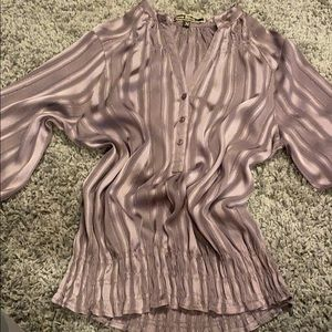 LOVE STITCH grey blouse